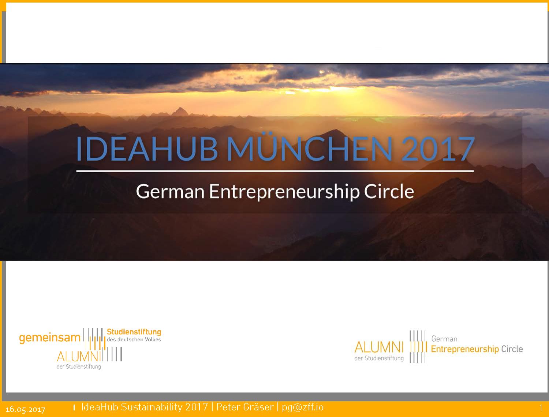 GEC IdeaHub Sustainability 2017 Intro - Peter Gräser, GEC
