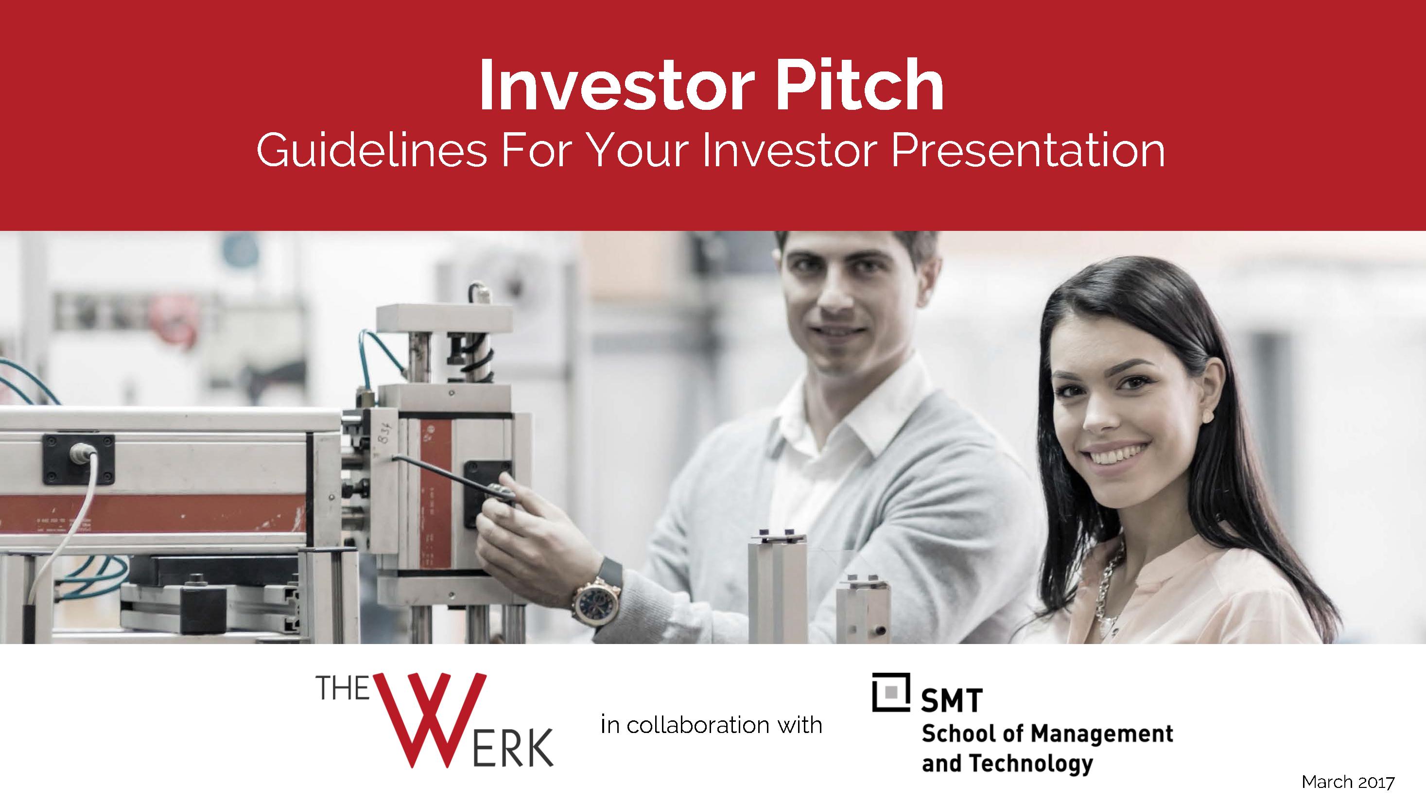 Investor Pitch. Guidelines For Your Investor Presentation - Peter Gräser, GEC